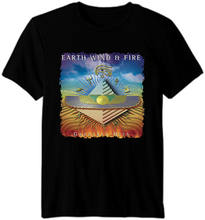 Earth, Wind & Fire-R & B soul funk jazz disco pop do Álbum Da Banda T shirt(China)