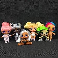 ЛОЛ Сюрприз куклы оригинальные Лол куклы шарик волос с подлинными голый Hairgoals аксессуары игрушки подарки для девочек