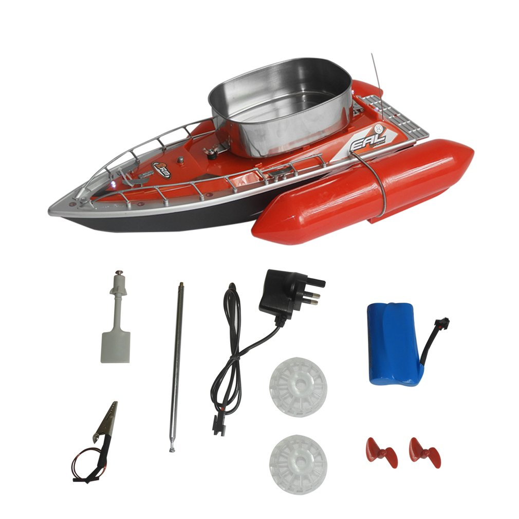 EAL T10 RC Boat Intelligent Wireless Electric Fishing Bait Remote Control Boat Fish Ship Searchlight <font><b>Toy</b></font> Gifts For Kids image