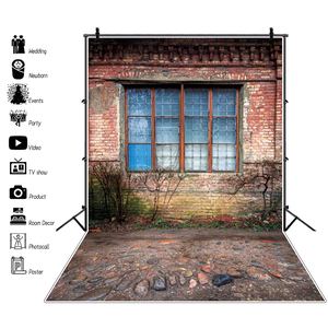Laeacco Old Rural Deserted House Stone Way Yard Porch Scenic Photo Backdrops Photographic Background Photocall Photo Studio