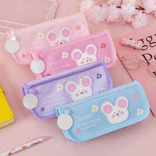 Pen-Box Pencil-Pouch-Bag Cute School-Stationery Cartoons-Fabric Student Mouse High-Capacity