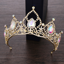 Princess Crown Headband Bride Hair Accessories Crystal Rhinestone Diadem Tiara for Women Wedding Bridal Crown Hair Jewelry цена и фото