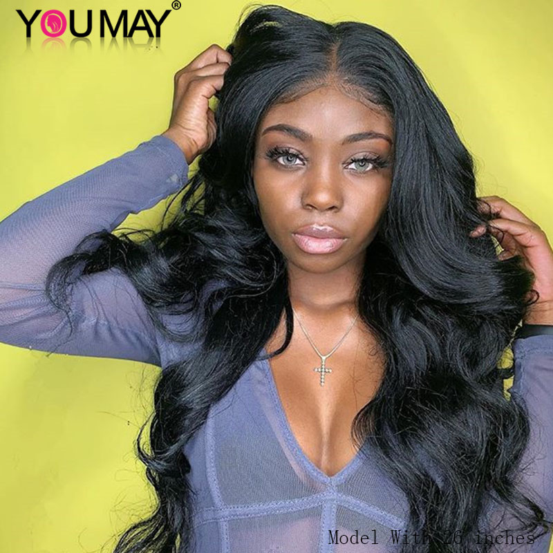 Full Lace Wigs With Baby Hair 180% Body Wave Brazilian Full Lace Human Hair Wigs For Women Light Brown Lace You May Remy Hair