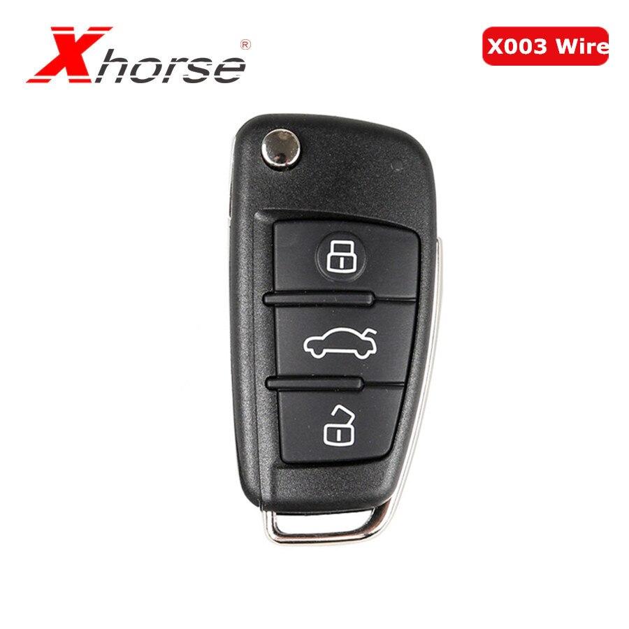 Xhorse Universal X003 Draht Remote Key 3 Tasten Für Audi A6L Q7 Typ Remote Key Shell Chip Für VVDI2 1 stück