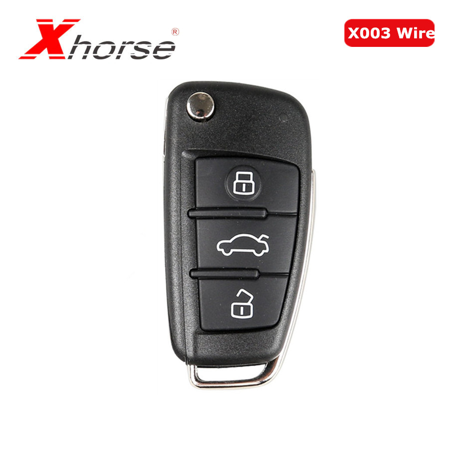 Xhorse Universal X003 Wire Remote Key 3 Buttons For Audi A6L Q7 Type Remote Key Shell Chip For VVDI2 1 Piece