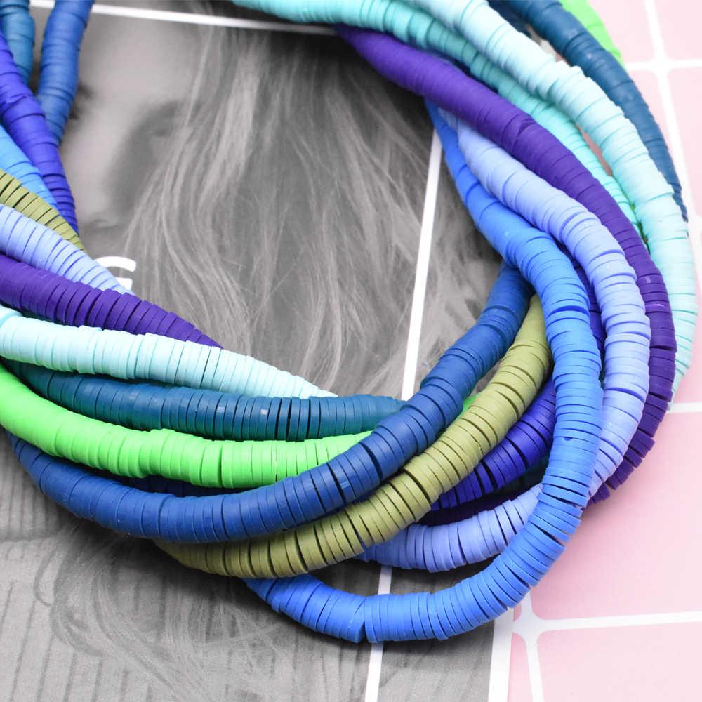 6mm 400 sztuk/partia DIY ocena biżuteria glina polimerowa koraliki gumowe Spacer koraliki do biżuteria boho co bransoletka akcesoria Fimo koralik