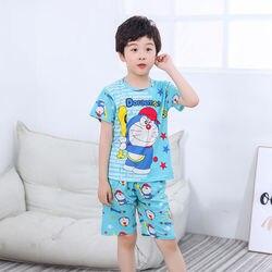 2020 детский пижамный комплект, летняя футболка с короткими рукавами + шорты, костюм детские пижамы, пижамы для мальчиков и девочек одежда для ...