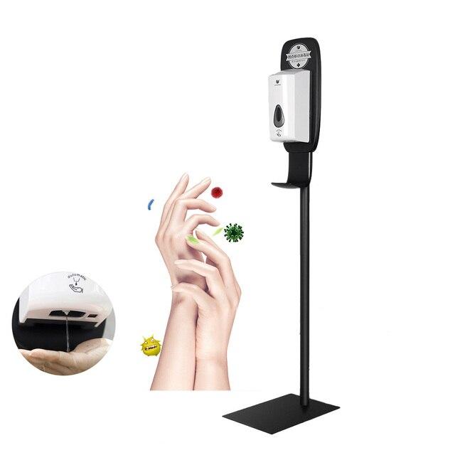 Distributeur automatique de désinfectant pour les mains, 1000ML, Machine pour savon et gel désinfectant avec capteur, mobile