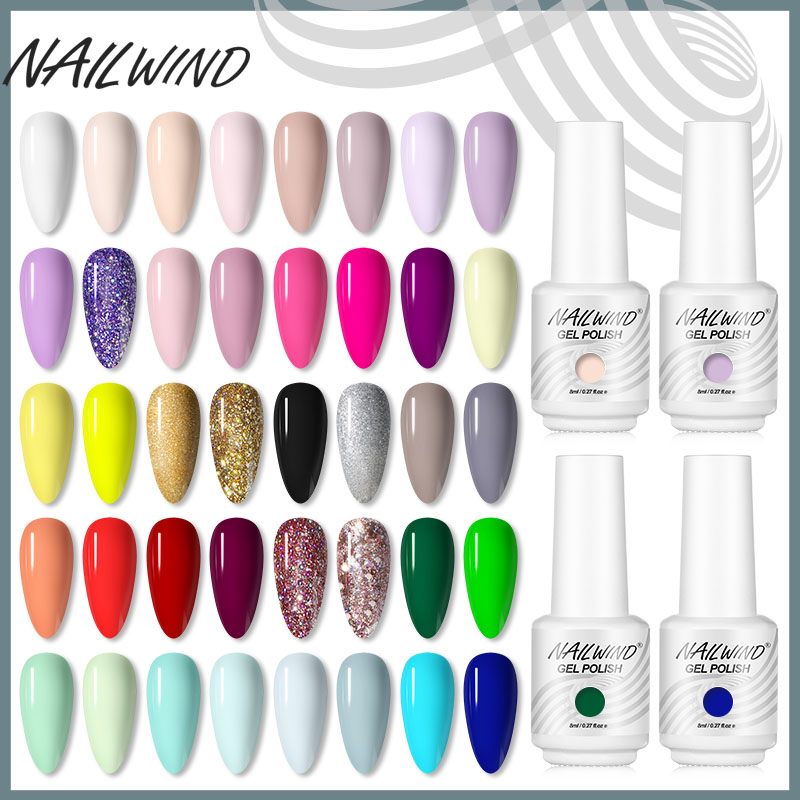 NAILWIND Gel Nail Polish All For Manicure Semi Permanent Vernis Top Coat Need UV/LED 8ML Gel varnishes for Nails Art Gel Polish(China)