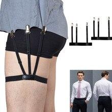 1 пара для мужчин s Рубашка Остается держатель подвязки регулируемые держатели рубашки сопротивление пояса рубашка подтяжки для мужчин запорные зажимы#0921