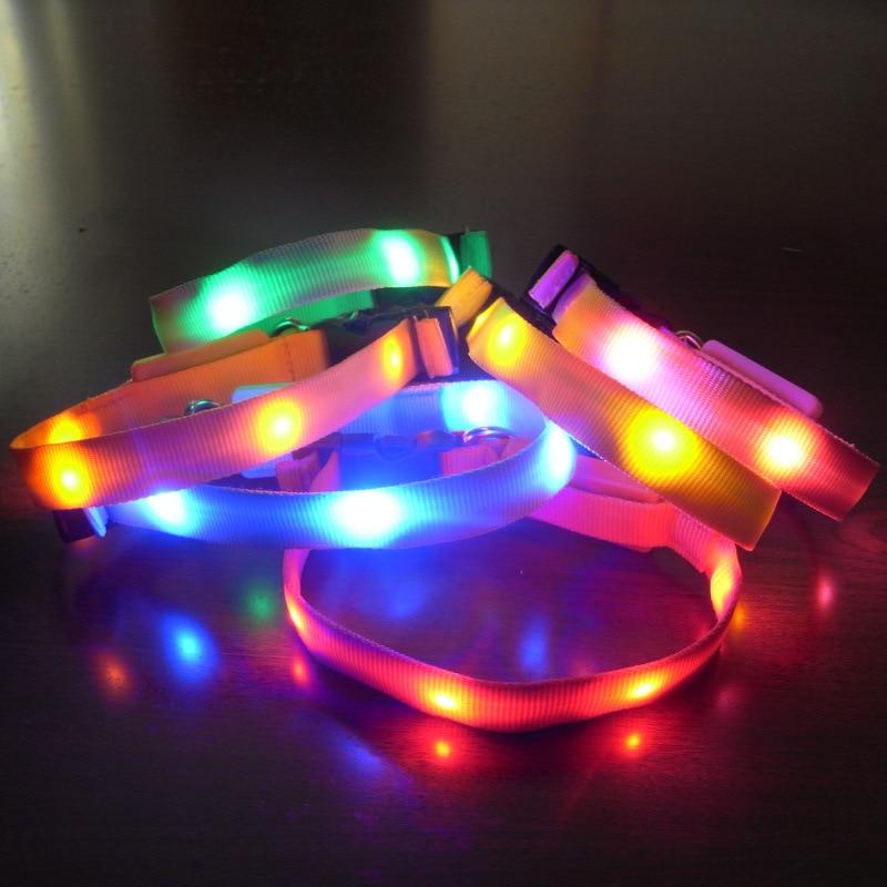 Flashing Electronic New Products 1.5 No Map Light Belt LED Luminous Pet Collar Dog Collar Pet Light-emitting Supplies