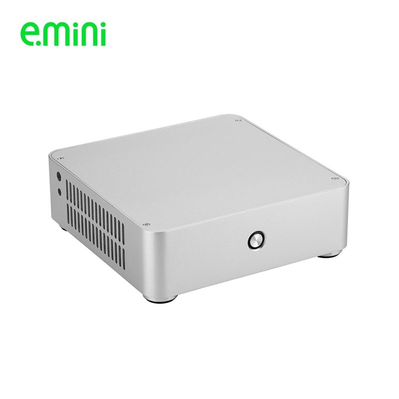 Чехол для компьютера Realan H60, ПК с алюминиевым корпусом HTPC для материнской платы mini ITX без блока питания