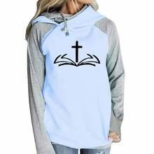 Молния украшения крест печати Иисуса библейские толстовки с