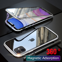 Magnetic Adsorption Phone Case For iPhone 11 Pro Max case 360 Cover  Metal