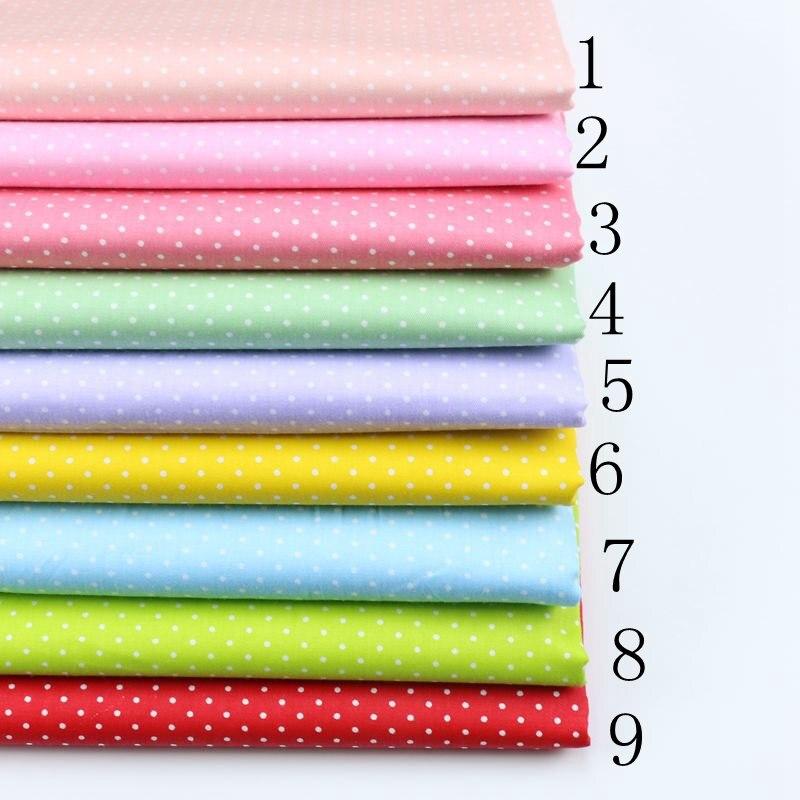 Деликатная стеганая ткань в горошек, 0,1 см, 100% хлопок, ткань для квилтинга, одежда, домашний текстиль, постельное белье, швейная кукольная тка...