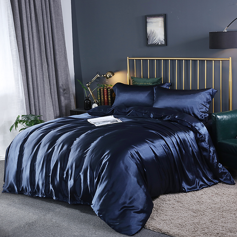 Satin Bed Sheets Double Duvet Cover 220x240 Bed Sheets And Pillowcase Silky Quilts And Sets Queen King Size Duvet Cover Sets