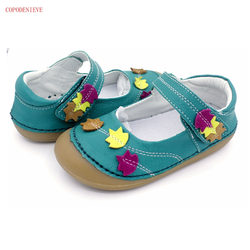COPODENIEVE New Girls' Children's Casual Shoes: Soft And Non Slip Leather, Durable Sole And Toe Design  Girls Dress Shoes