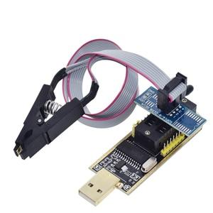 Image 2 - TZT CH341A 24 25 serii EEPROM Flash BIOS programator usb moduł + SOIC8 SOP8 klip testowy na EEPROM 93CXX/25CXX/24CXX zestaw do samodzielnego montażu