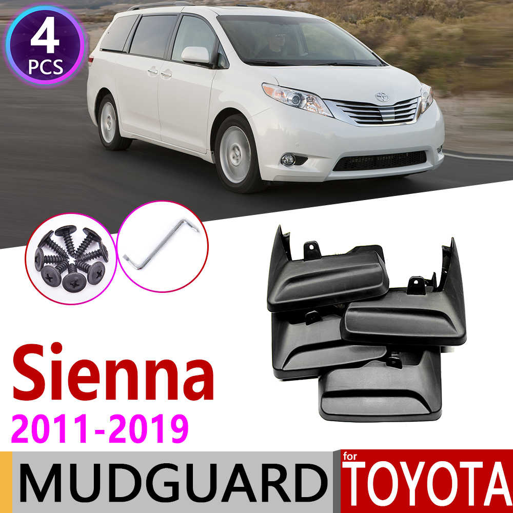 Mudflap for Toyota Sienna XL30 2011~2019 Fender Mud Guard Splash Flaps Mudguards Accessories 2012 2013 2014 2015 2016 2017 2018