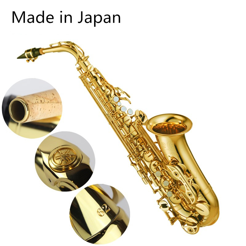 Made In Japan 62 Professional Alto Drop E Saxophone Gold Alto Saxophone With Band Mouth Piece Reed Aglet More Package Mail