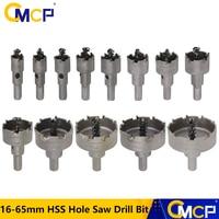 6/10/13pcs 16-65mm HSS Hole Saw Drill Bit Set Carbide Tip Hole Saw Cutter For Wood/Metal Working Core Drill Bit