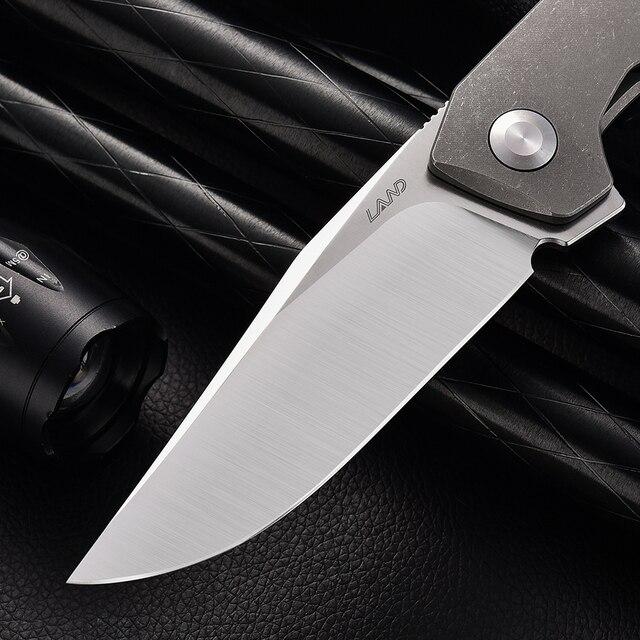 LAND 140 Needle Bearing Pocket Folding Knife VG10 Blade TC4 Handle Outdoor Camping  Survival Hunting Tactical EDC Tool Knives 2