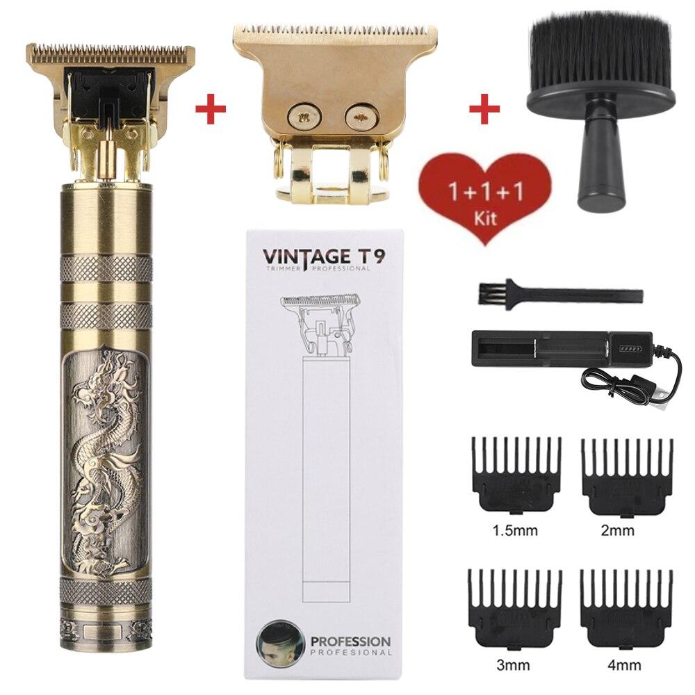 Профессиональный триммер для волос, набор инструментов, электрическая машинка для стрижки волос 0 мм, Парикмахерская машина, беспроводная с...
