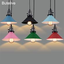 Luces colgantes Led lámpara Industrial lámpara colgante Vintage E27 lámpara colgante Led para cocina isla comedor restaurante cafetería Bar