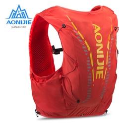 AONIJIE C962 piel avanzada 12L mochila de hidratación bolsa chaleco suave vejiga de agua matraz para senderismo carrera Maratón