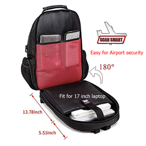 Image 3 - Male 45L Travel backpack 15.6 Laptop Backpack Men USB Anti theft Backpacks for teens schoolbag youth mochila women backbag