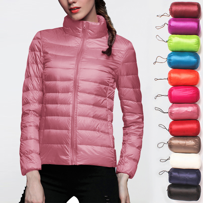 New Autumn Winter Women Down Parka Jacket Warm Down Ultra Light Soft Hoodies Jackets Coat Windproof Portable Outdoor Windbreaker