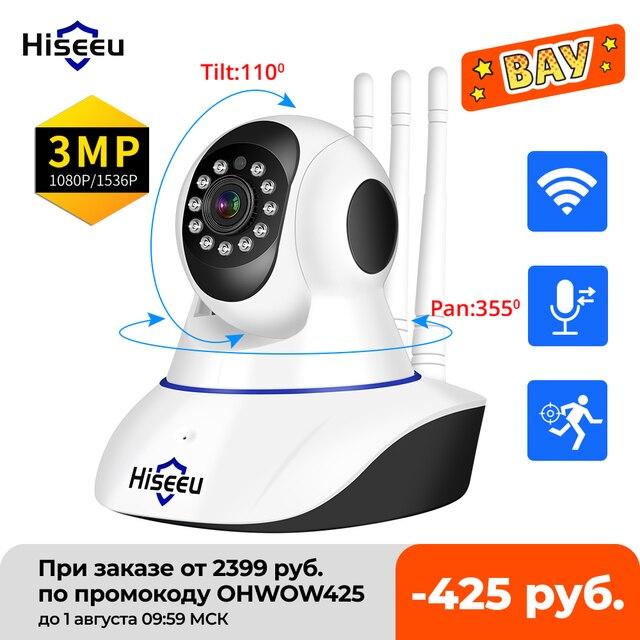 Hiseeu 1536P 1080P IP Camera WIFI Wireless Smart Home Security Camera Surveillance 2-Way Audio CCTV Pet Camera 720P Baby Monitor 1
