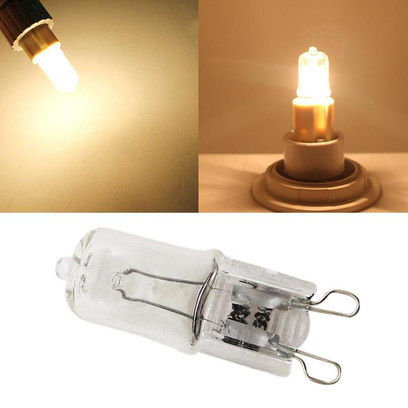 1pc G9 240v 25w Clear Capsule Light Bulb Oven Cooker Frosted Energy Saving Halogen Lamp Beads Home Warm White Indoor Lighting