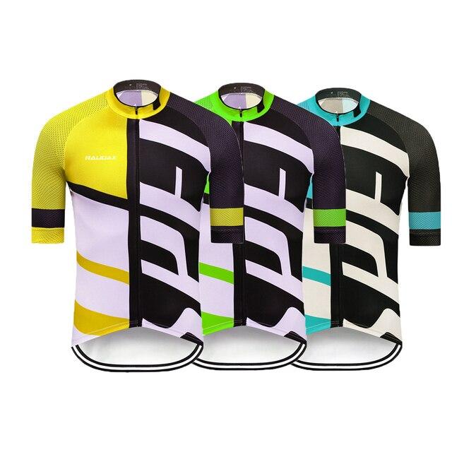 Terno de ciclismo masculino, camiseta de manga curta para mtb, com moletom, respirável, para o verão, roupa de ciclismo 19d, novo, 2020 6