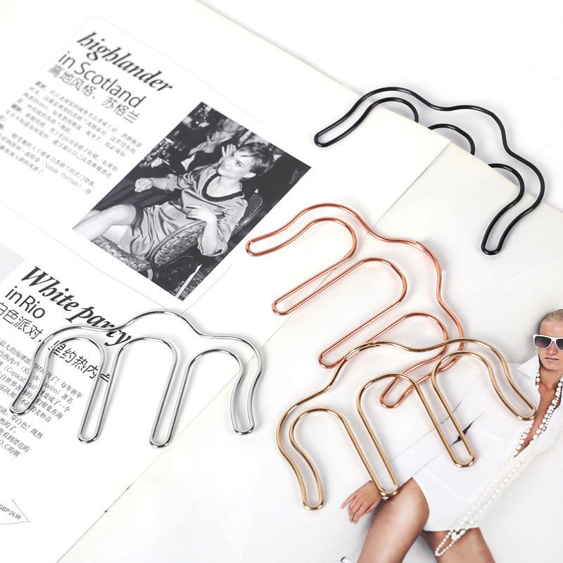 Metal Bookmark Accessories Brief Style Paper Clip Stationery Document Music Folder Bookmark ABS Clip Dropshipping