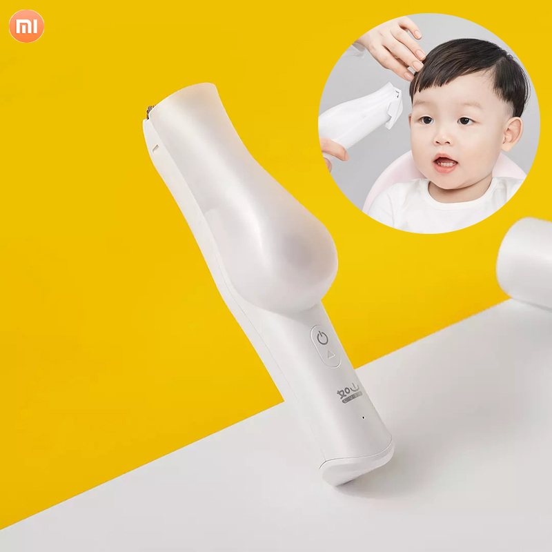 Xiaomi Rushan USB Electric Baby Hair Clipper Waterproof With Storage Box Ceramic Cutter Haircut Trimmer Children Hair Clipper image