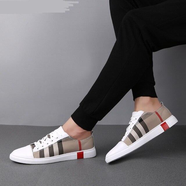 MR CO-zapatos de Skateboard transpirables para hombre, zapatillas deportivas de alta calidad, informales, de cuero genuino 1