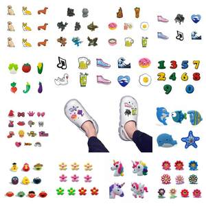 Bracelet Shoe-Charms JIBZ Kids Buckles Shoes-Accessories Unicorns Gift Animals Cartoons