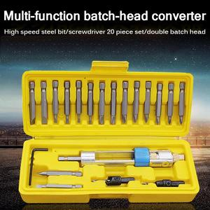 20 In 1 Multi-Function Screwdriver Conversion Head Batch Head Car Disassembly Set Electric Drill High Speed Steel Drill Bit NEW