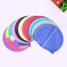Силиконовая шапочка для купания унисекс красочные аксессуары для плавания на открытом воздухе головные уборы износостойкая эластичная шляпа