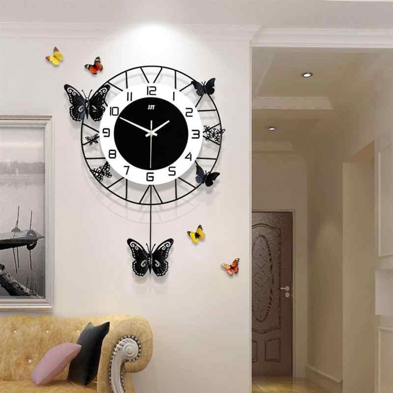 1pc Creative Butterfly Wall Clock Fashion Wall Decorative Hanging Clock Art Decor For Living Room Wall Art Home Decor Wall Clocks Aliexpress