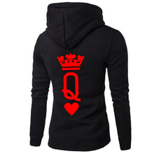 sweatshirt korean hoodies rose print womens hoodie love queen king sweatshirts pullover gothic clothes plus size harajuku