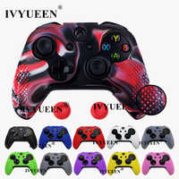 IVYUEEN 14 Colors for Microsoft Xbox One X S Slim Controller Silicone Case Skin Protective Cover with Thumb Sticks Grips Caps