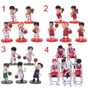 5pcs/set Japan Anime Slam Dunk figure Basketball Toy Hanamichi Rukawa Kaede Sakuragi Kaede Mitsui figure PVC Model Toys(China)