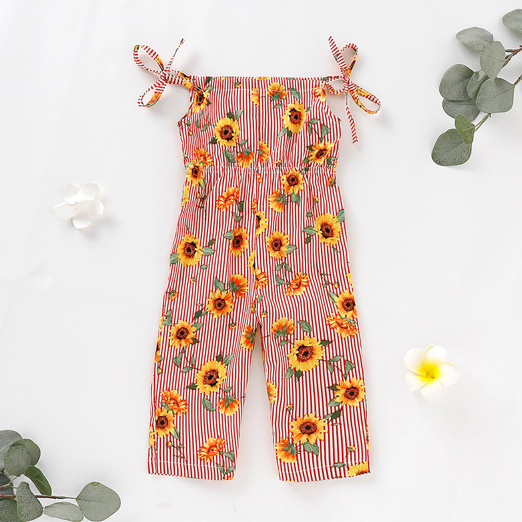 GIRL/'S DESIGNER TRADITIONAL STYLE COTTON SUNFLOWER JUMPSUIT AGES 3 AND 4 YEARS