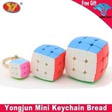 Keychain Decoration Key-Ring Puzzle Magic-Cube Mini 3x3 2cm Yongjun Bread YJ
