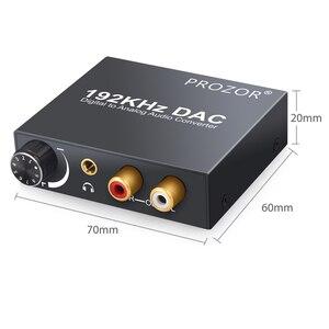 Image 3 - Цифровой аудиопреобразователь proзор DAC RCA 3,5 мм выход с регулировкой громкости L/R декодер Toslink в аналоговый для домашнего кинотеатра DVD