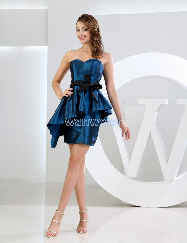 2016 Taffeta Sheath Direct Selling Mini Royal Vestidos Formales Brides Maid Dress Plus Size Women's Formal Bridesmaid Dresses