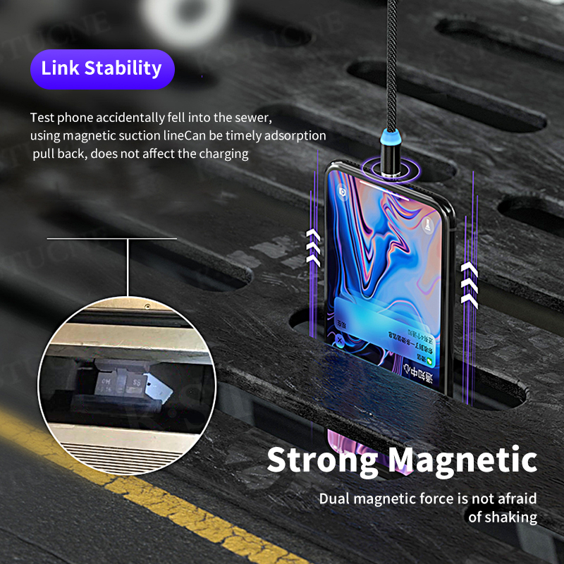 Magnetic Cable lighting 2.4A Fast Charge Micro USB Cable Type C Magnet Charger 1M Braided Phone Cable for iPhone Xs Samsung Wire 3