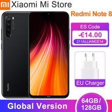 Versão global xiaomi redmi nota 8 4gb 64gb/128gb telefone móvel snapdragon 665 octa núcleo 6.3